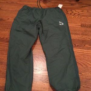 Stussy hunter green nylon sweatpants